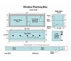 Hanging window box plans Plan