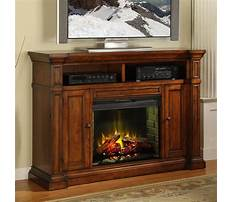Hardwood entertainment center with fireplace Plan