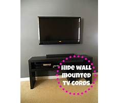 Hide the cords from your wall mounted tv Plan