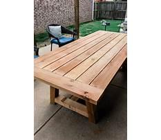 Homemade garden table.aspx Plan