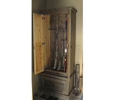 Homemade steel gun cabinet Plan