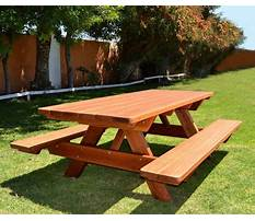 Homemade wooden picnic table plans Plan