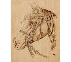 Horse wood burning patterns free Plan