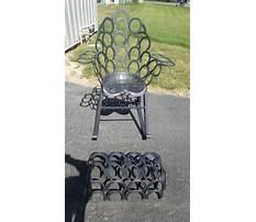Horseshoe rocking chair Plan