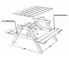 How much does it cost to make a picnic table Plan