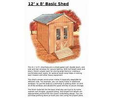 How to build a 12x8 shed Plan
