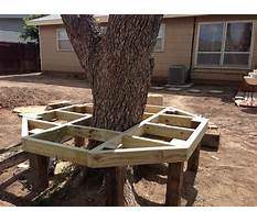 How to build a bench around a tree Plan