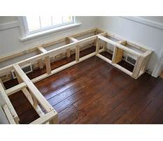 How to build a breakfast bench seat Plan