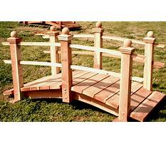 How to build a bridge in your backyard Plan