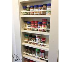 How to build a built in spice rack Plan