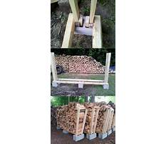 How to build a cheap firewood rack Plan