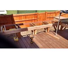 How to build a deck bench seat with back Plan