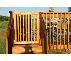 How to build a deck gate Plan