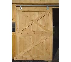 How to build a exterior barn door Plan