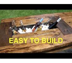 How to build a farmhouse table with built in coolers complete and easy plan Plan
