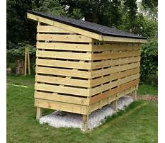 How to build a firewood shed by yourself Plan