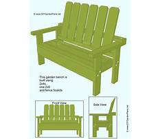 How to build a planter bench yourself Plan
