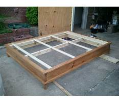 How to build a queen size platform bed with headboard Plan