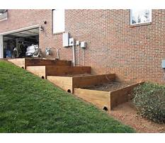 How to build a raised bed garden on a slope Plan