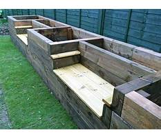 How to build a raised bed garden railroad Plan