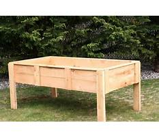 How to build a raised bed garden with legs Plan
