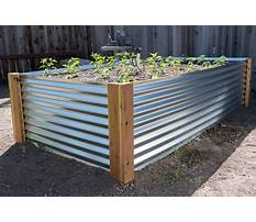 How to build a raised bed garden with metal Plan