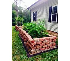 How to build a raised bed garden with pavers Plan