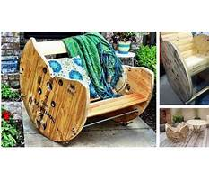 How to build a rocking chair from wooden spools Plan