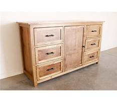How to build a rustic dresser Plan