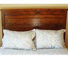 How to build a rustic wood headboard Plan
