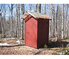 How to build a sanitary outhouse Plan