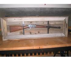 How to build a shadow box for a rifle Plan