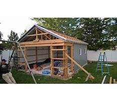 How to build a shed from scratch Plan