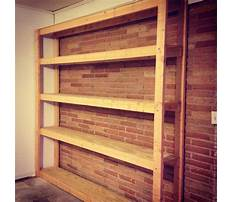 How to build a shelving unit with doors Plan