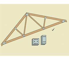 How to build a simple wood truss Plan