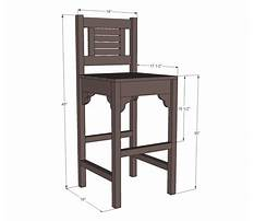 How to build a simple wooden bar stool Plan