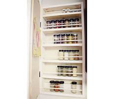 How to build a spice rack shelf Plan