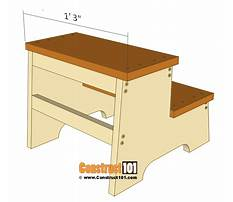 How to build a step stool for a child Plan