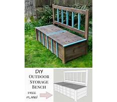 How to build a storage bench Plan
