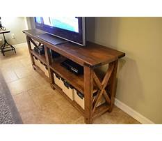 How to build a tv stand for flat screen Plan