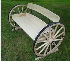 How to build a wagon wheel bench Plan