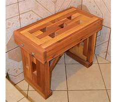 How to build a wood frame shower bench Plan