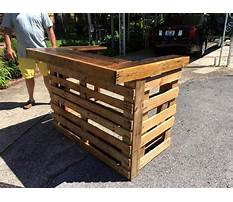 How to build a wood pallet bar Plan