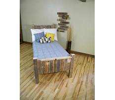 How to build a wood pallet bed Plan