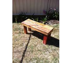 How to build a wood pallet bench seat Plan