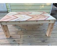 How to build a wood pallet coffee table Plan