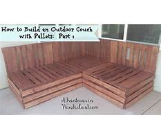 How to build a wood pallet couch Plan
