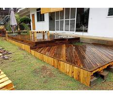 How to build a wood pallet deck Plan