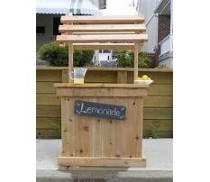 How to build a wood pallet lemonade stand Plan