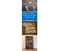 How to build a wood pallet plaque Plan